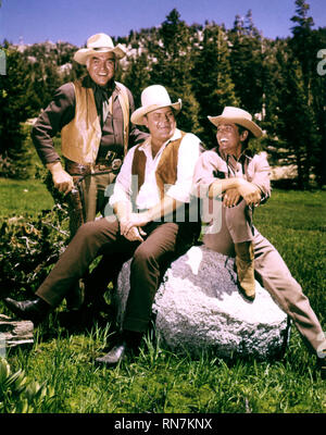 GREENE,BLOCKER,LANDON, BONANZA, 1959 - Stock Photo