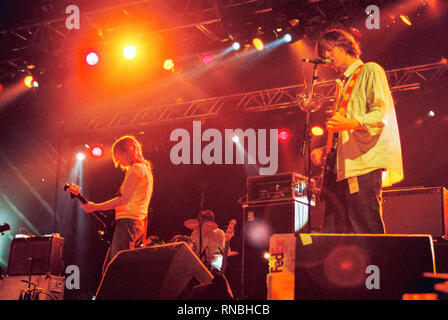 Sonic Youth Performing at T in the Park, 14th July 2002. Kinross, Tayside, Scotland, United Kingdom. - Stock Photo
