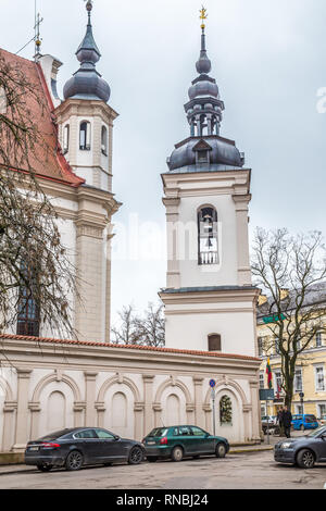 Old building in the old of Vilius in Lithuania Baltic States Europe - Stock Photo