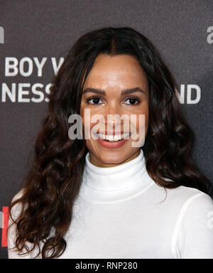 London, UK. 19th Feb 2019. Frances Aaternir at special screening of The Boy Who Harnessed The Wind in attendance, at the Ham Yard Hotel. Credit: Nils Jorgensen/Alamy Live News - Stock Photo