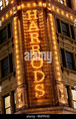 Harrods, Knightsbridge, London, United Kingdom - Stock Photo