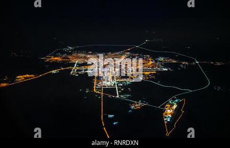 Aerial view of Astana, Kazakhstan - Stock Photo