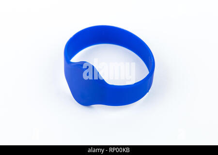 Touch memory key and reader on white background - Stock Photo