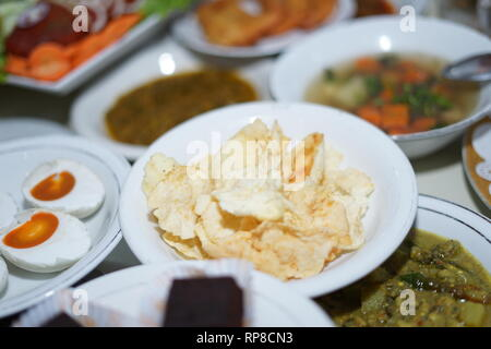 Traditional Indonesian Cracker/chips or Kerupuk Emping - Stock Photo