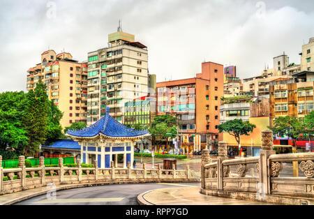 Typical buildings in Zhongzheng District of Taipei, Taiwan - Stock Photo
