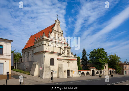 Lublin, Poland. St. Joseph's Church - 17th-century Roman Catholic church in old town - Stock Photo