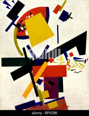 Suprematism 1915 Kazimir Malevich 1878-1935 Russia, USSR,  Russian, Federation, - Stock Photo