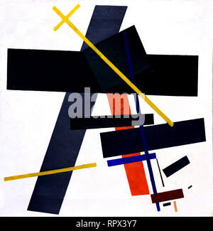 Suprematism 1915 -1916 Kazimir Malevich 1878-1935 Russia, USSR,  Russian, Federation, - Stock Photo