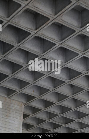 Underside of bridge. London South Bank, UK - Stock Photo