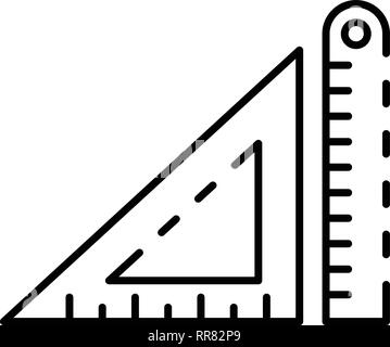 Architectural ruler icon, outline style - Stock Photo
