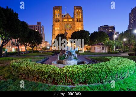 Grace Cathedral, San Francisco, California, United States of America, North America - Stock Photo