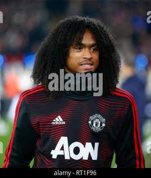London, UK. 27th Feb, 2019. Manchester United's Tahuth Chong during English Premier League between Crystal Palace and Manchester United at Selhurst Park stadium, London, England on 27 Feb 2019. Credit: Action Foto Sport/Alamy Live News - Stock Photo