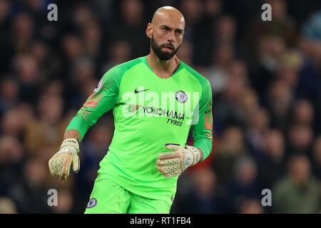 London, UK. 27th Feb, 2019. Wilfredo Caballero of Chelsea - Chelsea v Tottenham Hotspur, Premier League, Stamford Bridge, London - 27th February 2019 Editorial Use Only - DataCo restrictions apply Credit: MatchDay Images Limited/Alamy Live News - Stock Photo
