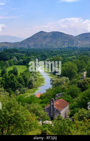 Montenegro, Zabljak, view from fortress Zabljak Crnojevica - Stock Photo