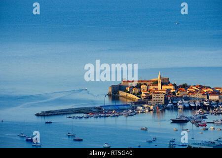 Montenegro, Adriatic Coast, Budva, Old town - Stock Photo