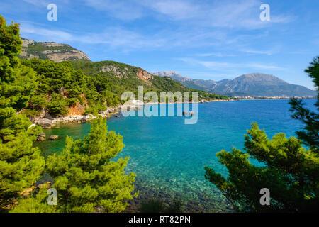 Montenegro, Adriatic coast, between Sutomore and Bar, Ratac beach - Stock Photo