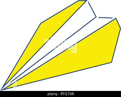 Paper plane icon. Thin line design. Vector illustration. - Stock Photo
