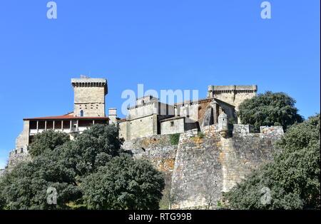 Medieval Monterrey Castle. Orense, Galicia, Spain. - Stock Photo