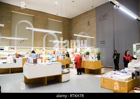 Parco Sempione and Triennale Museum. Triennale design and bookstore. Milan, February 27th, 2019 - Stock Photo