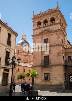 Palacio Monterrey tower and Iglesia de la Purissima dome - Stock Photo