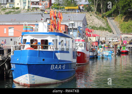 At the old fishing port of Sassnitz on Rügen - Stock Photo