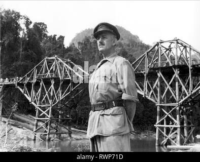 ALEC GUINNESS, THE BRIDGE ON THE RIVER KWAI, 1957 - Stock Photo