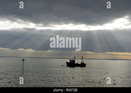 Fishing boat, Southend-on-Sea, Essex, UK - Stock Photo