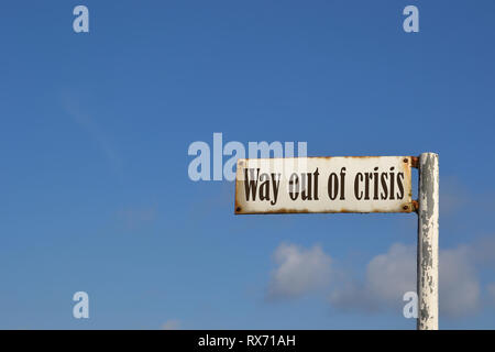 way out of crisis - Stock Photo