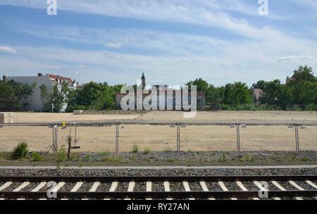 Bebauungsgebiet, Gueterbahnhof Wilmersdorf, Friedenau, Berlin, Deutschland - Stock Photo