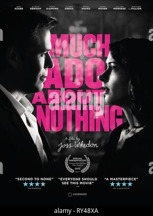 MOVIE POSTER, MUCH ADO ABOUT NOTHING, 2012 - Stock Photo