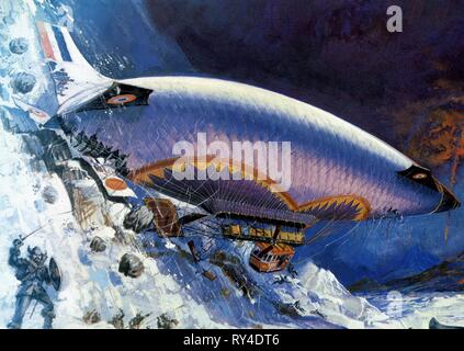 AIRSHIP, THE ISLAND AT THE TOP OF THE WORLD, 1974 - Stock Photo