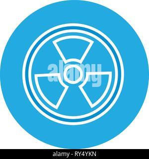 radiation symbol science - Stock Photo