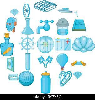 Innovations icons set, cartoon style - Stock Photo