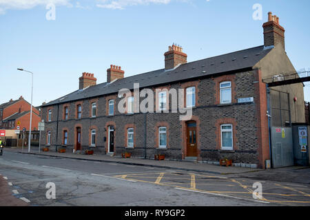 three bay two storey houses from 1880 on portland row Dublin Republic of Ireland Europe - Stock Photo