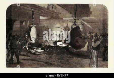 Mortar Casting, at the Regent's Canal Ironworks - Stock Photo