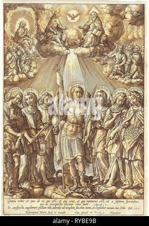 Seven Archangels, Hieronymus Wierix, 1563 - before 1619 - Stock Photo