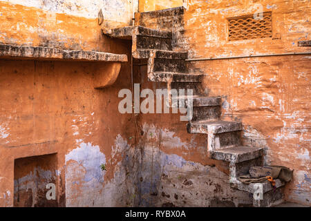 India Grunge Stairs - Stock Photo