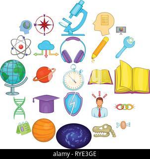 Brainstorm icons set, cartoon style - Stock Photo