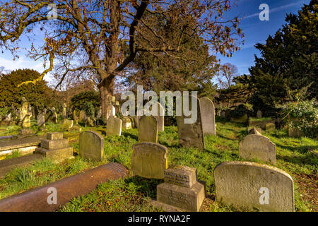 Brompton Cemetery is a London cemetery in the Royal Borough of Kensington and Chelsea, managed by The Royal Parks - Stock Photo