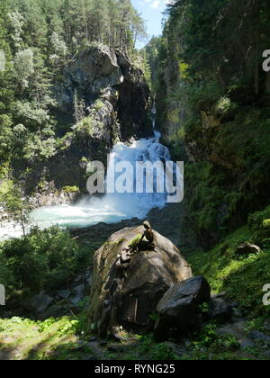 Reinbach wasserfall, South Tyrol, Italy - Stock Photo