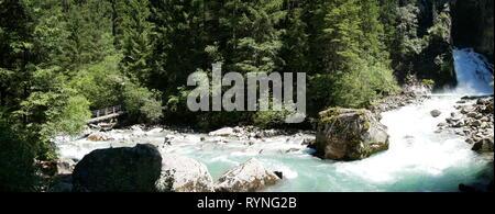 Reinbach wasserfall, South Tyrol, Italy - Stock Photo