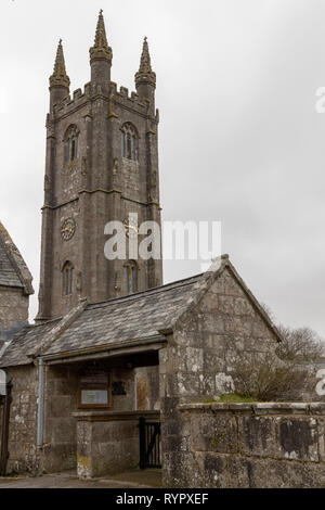 Church of St Pancras, Widecombe in the Moor, Dartmoor - Stock Photo