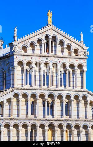 The Cathedral of Pisa, west facade, Pisa, Tuscany, Italy - Stock Photo