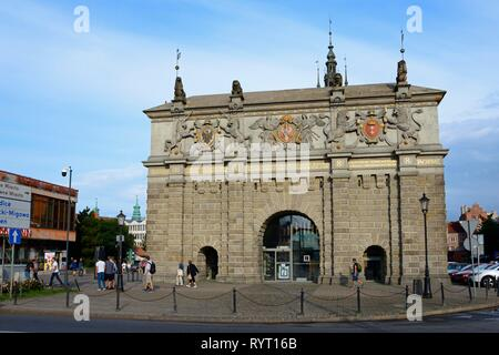 High Gate, Old Town, Gdansk, Pomerania, Poland - Stock Photo
