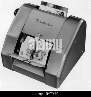 money / finances, engine, banknote counting machine Bandacheck, 1961, Additional-Rights-Clearance-Info-Not-Available - Stock Photo