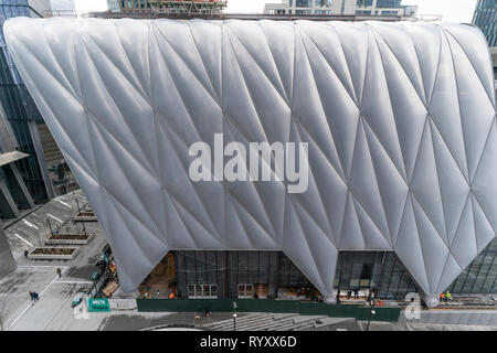 New York, NY - March 15, 2019: Hudson Yards is lagest private development in New York. View of new cultural center The Shed at Hudson Yards of Manhattan during opening day Credit: lev radin/Alamy Live News - Stock Photo