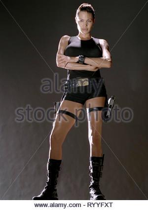 ANGELINA JOLIE, LARA CROFT: TOMB RAIDER, 2001 - Stock Photo