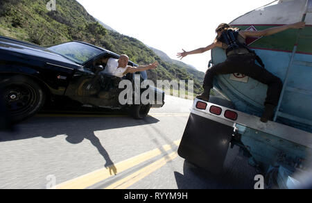 VIN DIESEL, MICHELLE RODRIGUEZ, FAST and FURIOUS, 2009 - Stock Photo