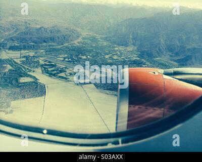 Palm Springs international airport - Stock Photo