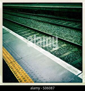 Railway tracks - Stock Photo